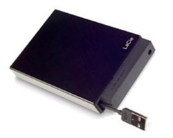 "Lacie 2.5"" 320 GB USB 2.0 Bus-powered cabo USB extensível"