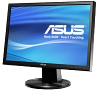 Asus 19 Wide  VW195S Colunas BLACK
