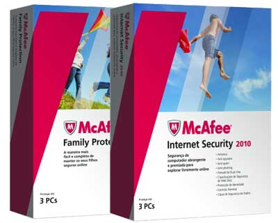 McAfee Int. Security + Family Protection 2010 3 Users PT
