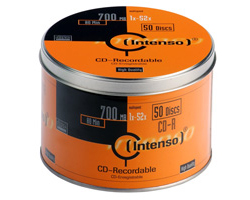 CD-R 52x Intenso Metallbox - Pack 50