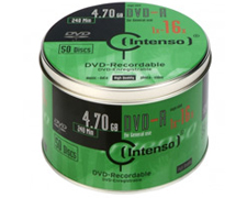 DVD-R 4.7GB 16X CAKE PK50 Intenso