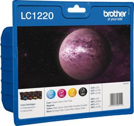 Tinteiro Brother LC1220BK (Pack 4 cores)