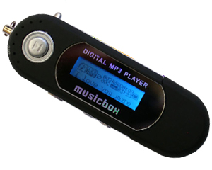 Leitor MP3 8GB MUSICBOX PLAYER C/RADIO FM BLACK