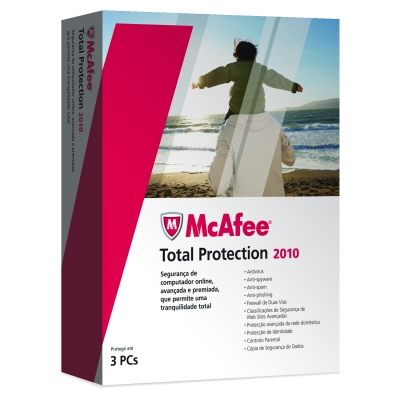 McAfee Total Protection 2010 3 Users PT - UPGRADE