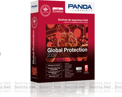 Panda Global Protection  2009 1 Ano 3 Pc´s