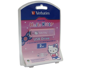Pen Drive 2GB USB 2.0 Hello Kitty (1095433)