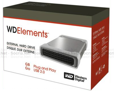 Disco 500GB Western Digital 3.5 Element (WDE1U5000E)