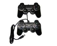 GAMEPAD TAKE IT 2 UNIDADES DUAL SHOCK PC USB BLACK PC009